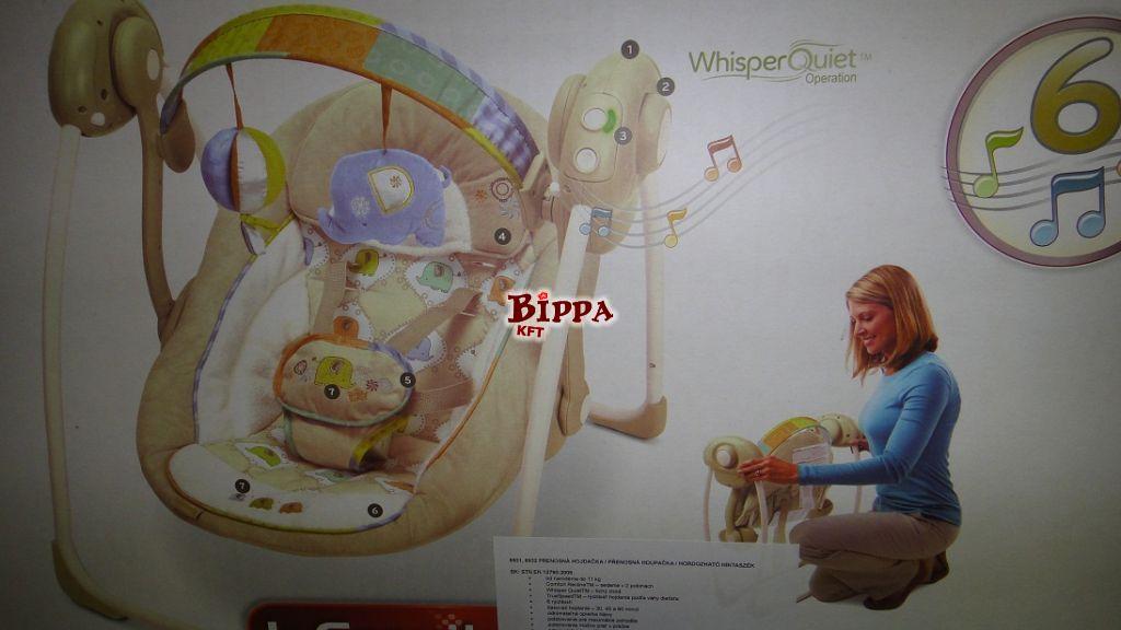 Elektromos zenélős bébihinta