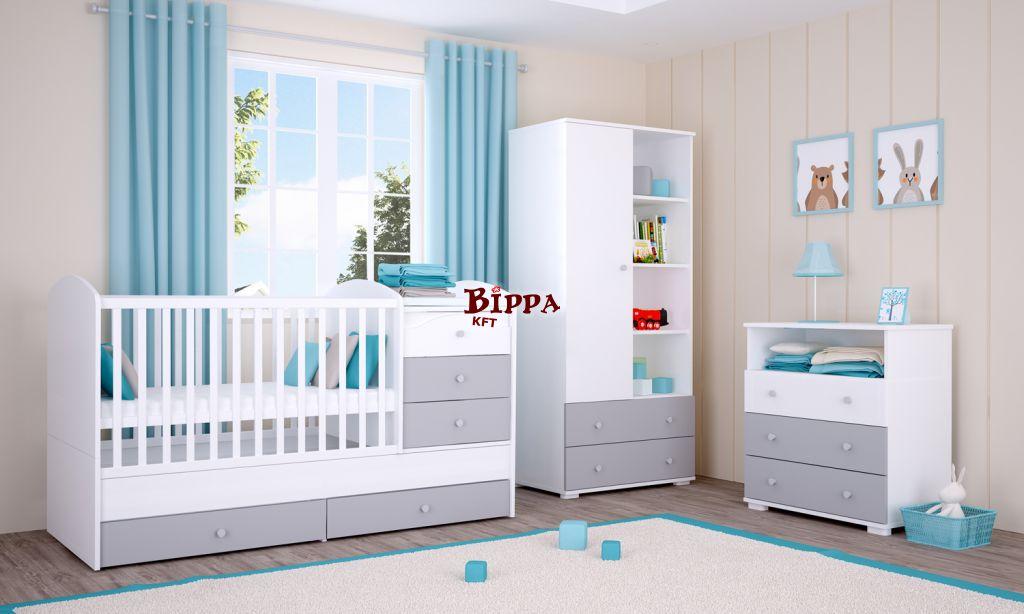 Ezüst-Fehér Maxi Kombi babaágy